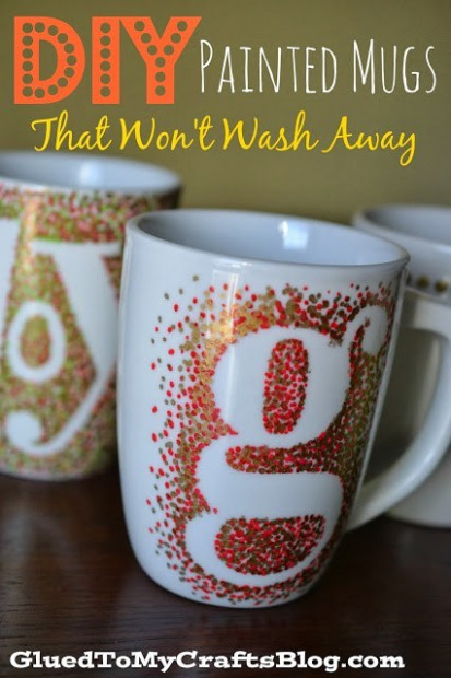 DIY Sharpie Painted Mugs – That Won't Wash Away! – Glued To My Crafts – Christmas Coloring Mugs