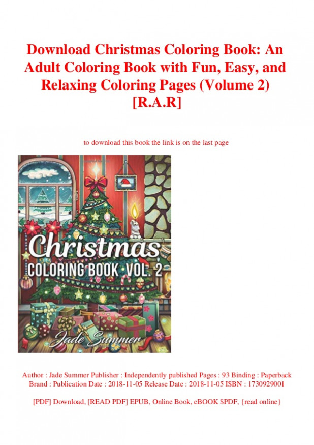 Download Christmas Coloring Book An Adult Coloring Book with Fun Eas… – Christmas Coloring Book Download