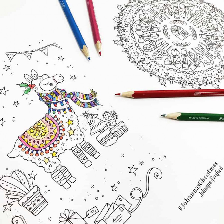 Downloads Archives – Johanna Basford – Christmas Coloring Downloads