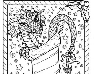 Dragon Christmas Coloring Pages – Festival Collections