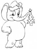 Elephant Coloring Pages – Christmas Elephant Coloring Pages