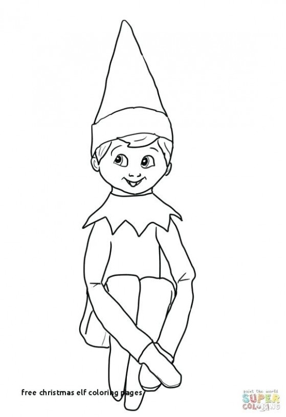 Elf Color Pages Elf On The Shelf Coloring Pages Printable Printable ..