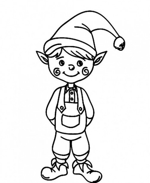 Elf Coloring Pages   Free download best Elf Coloring Pages on ..