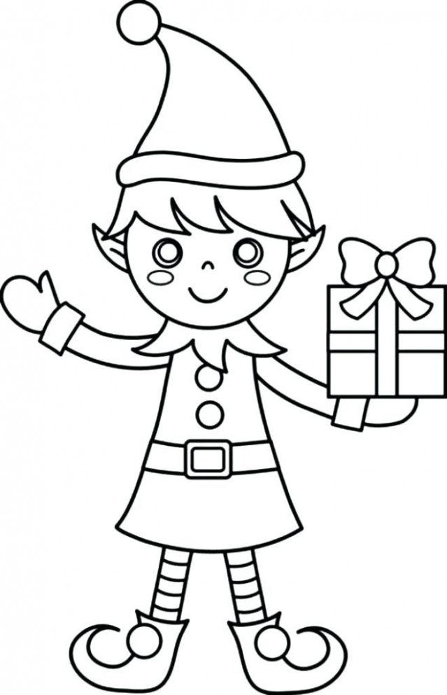 elf coloring sheets pages for adults. santa and his elf coloring ..