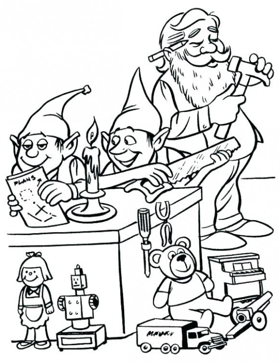 elf on the shelf coloring book. free christmas coloring pages elves ..