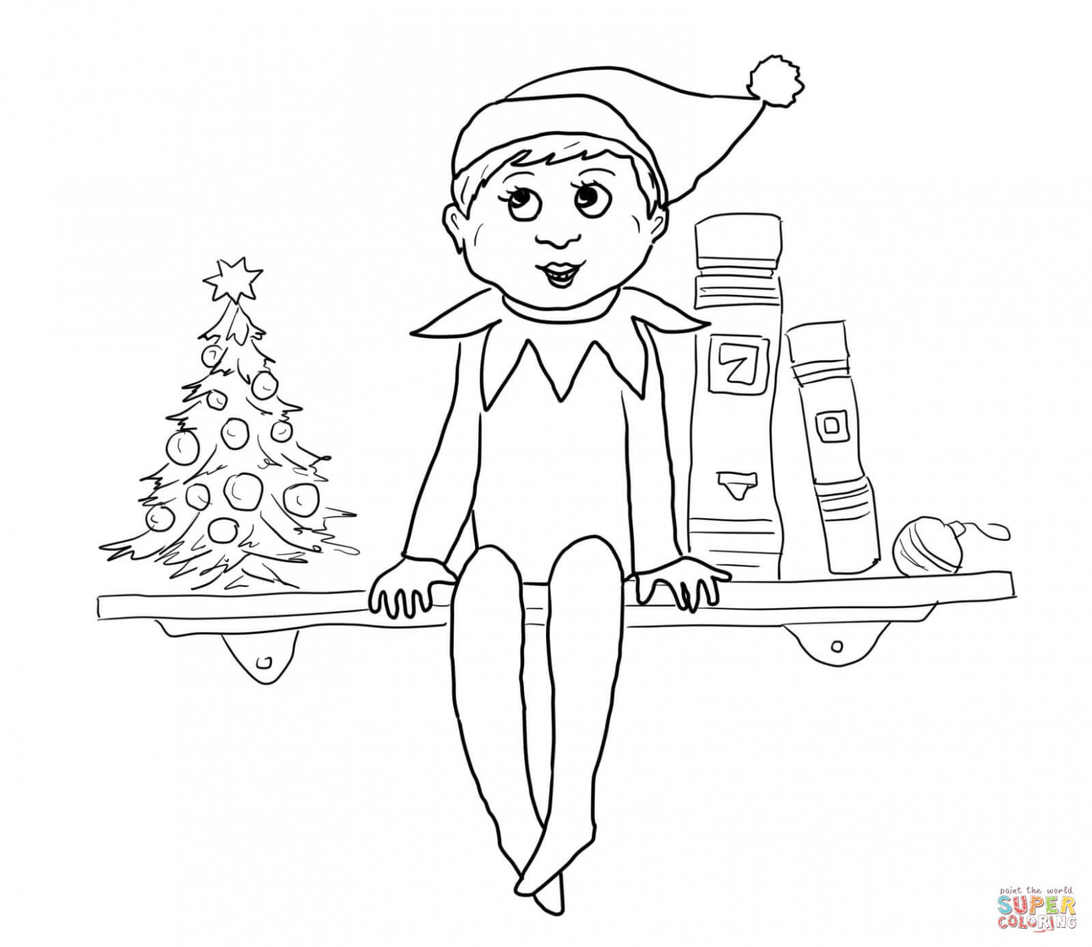 Elf on the Shelf coloring pages   Free Coloring Pages – Christmas Coloring Sheets Elf