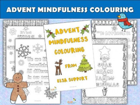 ELSA SUPPORT – Christmas – ADVENT MINDFULNESS COLOURING SHEETS ..