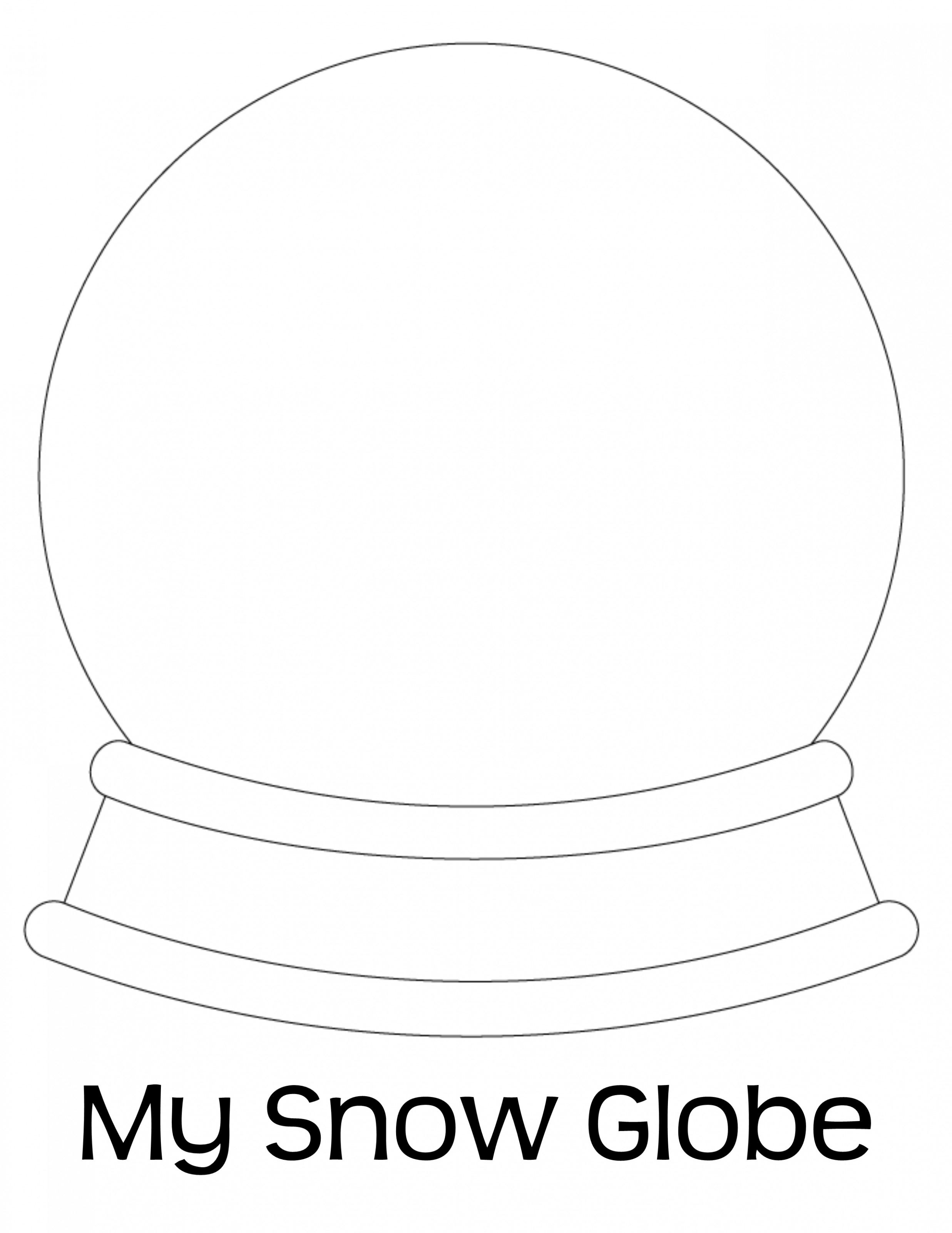 Empty Snow Globe Coloring Page Coloring Pages, Globe Coloring Page ...