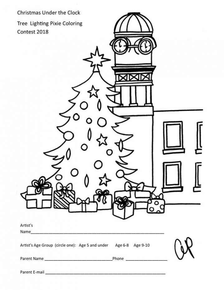Enter the Christmas Under the Clock Coloring Contest