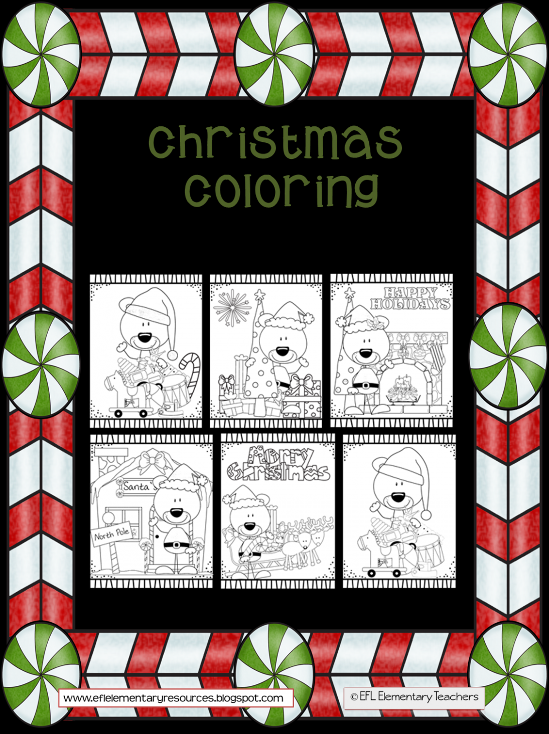 ESL/EFL Preschool Teachers: Christmas Coloring Pages