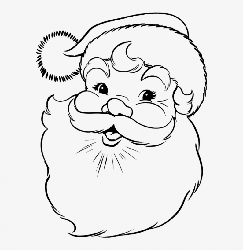Face Of Santa Claus In Christmas Coloring Pages - Santa Claus Face ...