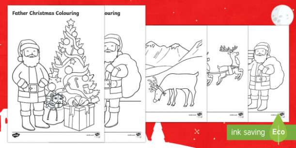 Father Christmas Colouring Pages – Christmas Coloring Pages Twinkl