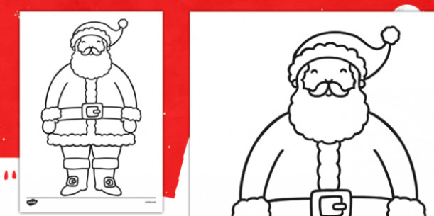 Father Christmas Colouring Sheet – father christmas, colouring, sheet – Christmas Coloring Pages Twinkl