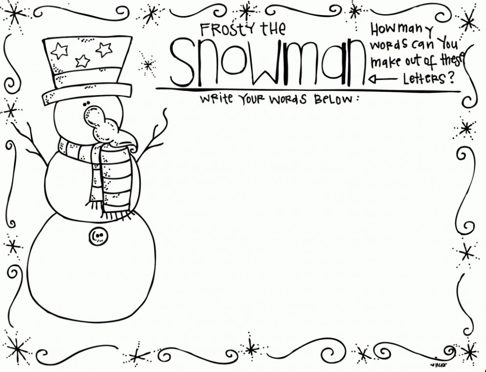 First Grade Christmas Coloring Pages Property Free For Graders 14st ..