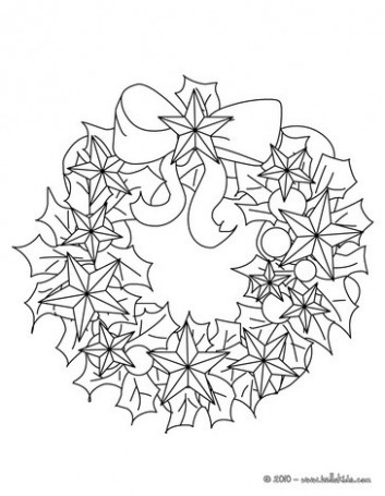 Flowers and stars wreath coloring pages – Hellokids