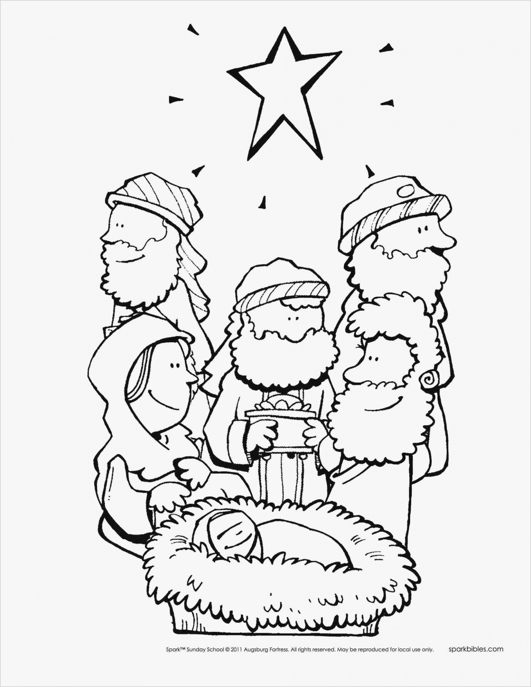 Free Bible Story Coloring Pages Awesome â–· Printable Christmas ...