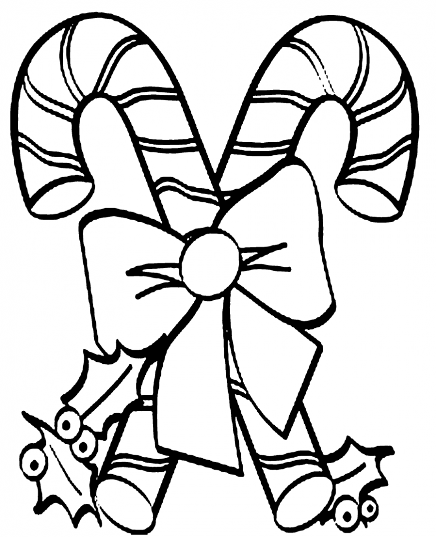 Free Candy Cane Coloring Pages With Download Coloring Pages. Candy ..