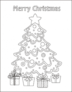 Free Christmas coloring pages – Christmas tree coloring sheets ..