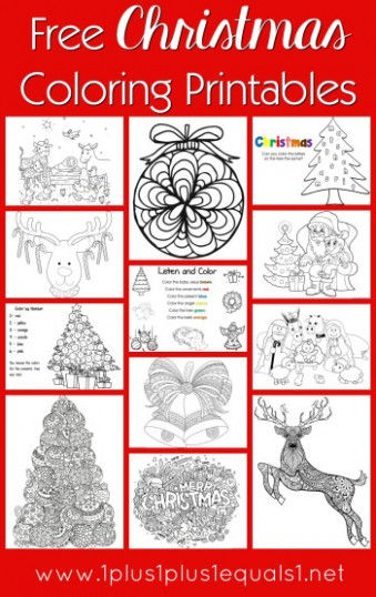 Free Christmas Coloring Pages for Kids  – Christmas Coloring Pages For Adults Free Printable