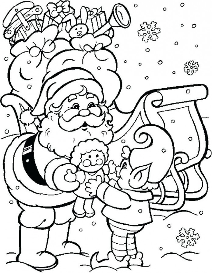 Free Christmas Coloring Pages For Kids Printable Colouring Pages ..