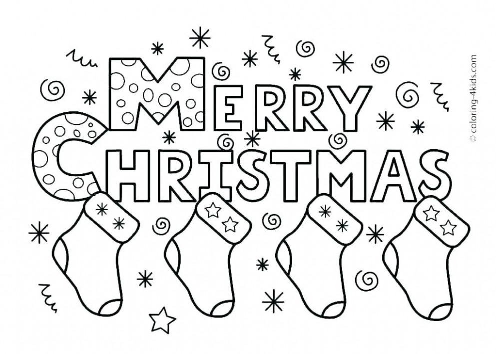 Free Christmas Coloring Pages For Preschoolers Preschool Coloring ...