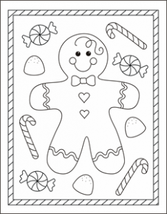 Free Christmas coloring pages – gingerbread man coloring sheets ..