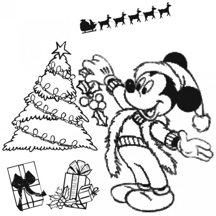 Free Christmas Coloring Pages Rudolph Mickey Mouse Christmas ..