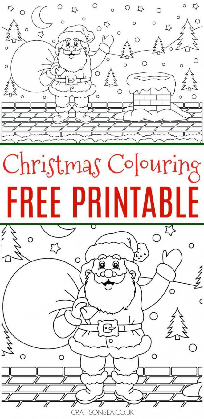Free Christmas Colouring Page | Christmas Crafts and Activities for ..