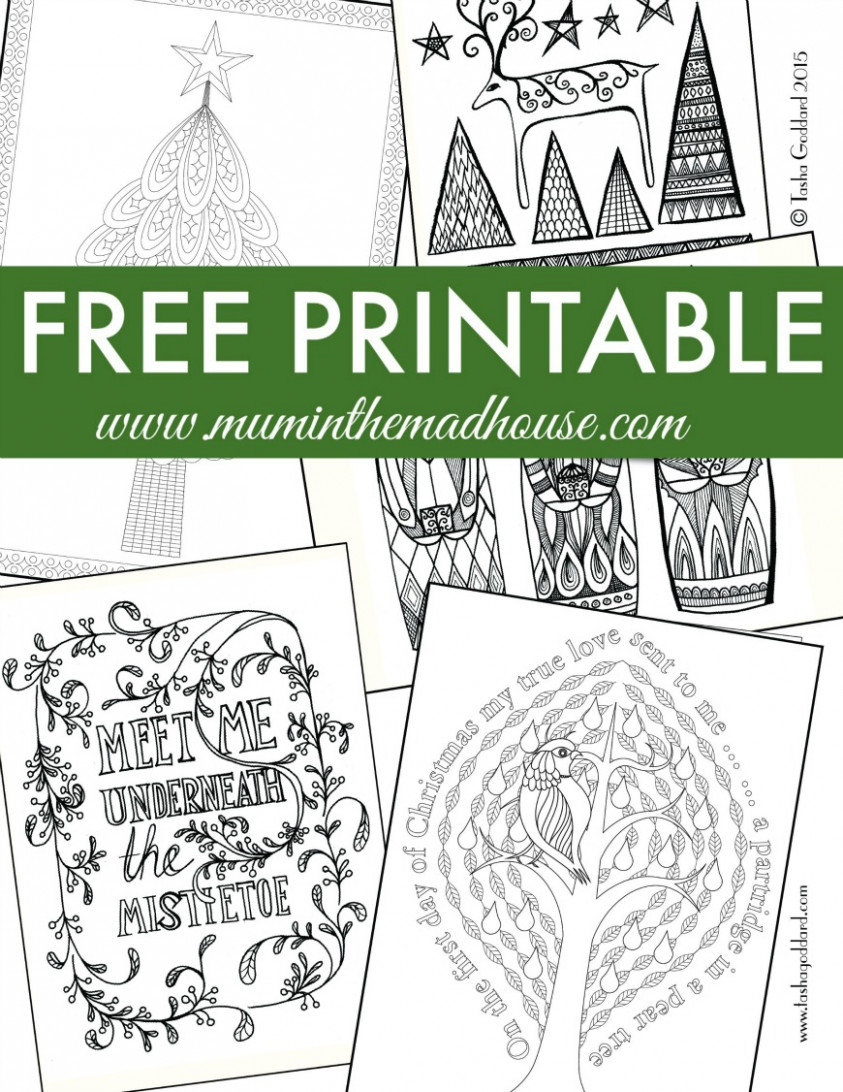 Free Christmas Colouring Pages for Adults and Teens – Mum In The ..