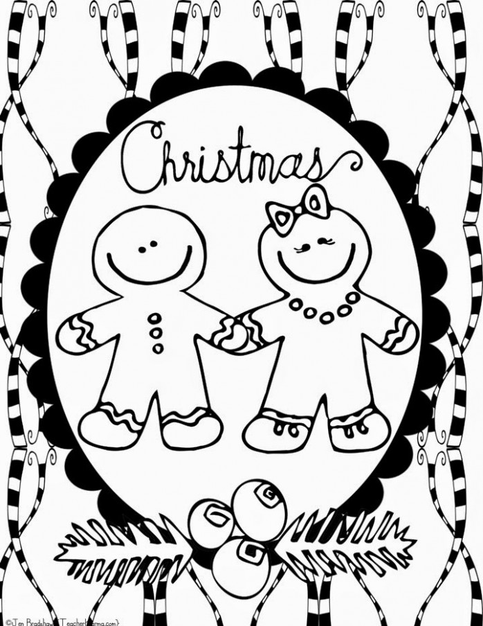 FREE: Christmas Doodle Coloring Pages — Teacher KARMA – Christmas Coloring Pages For Teachers