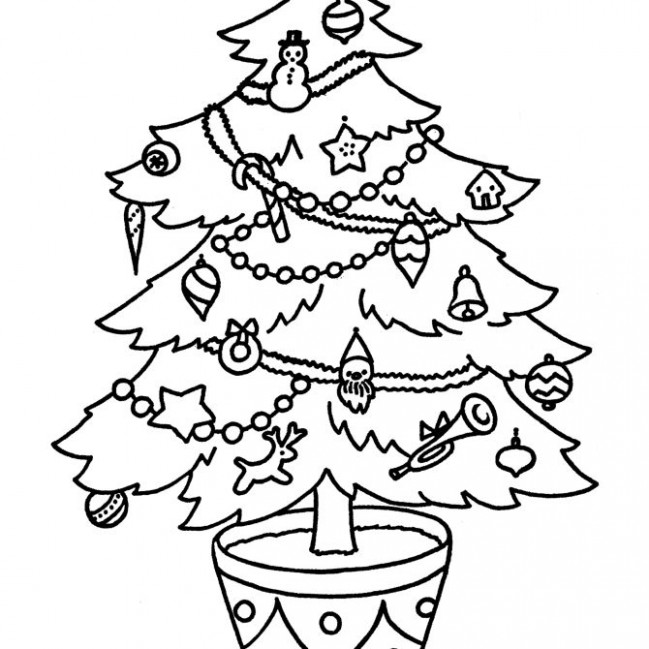 Free Christmas Tree Coloring Pages for the Kids – Christmas Colouring Pages Tree