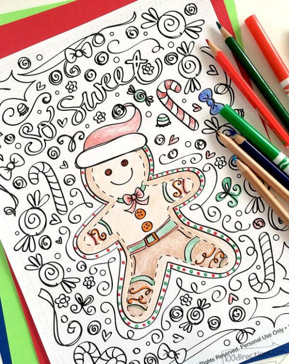 Free Coloring Pages 16  Coloring Pages Gingerbread Man – Free Christmas Coloring Pages Gingerbread Man