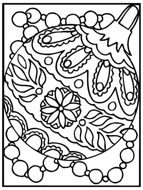 Free Coloring Pages: Christmas Ornaments Coloring Page | Art ..