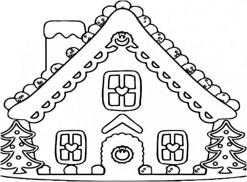 Free Gingerbread Coloring Pages Gingerbread House Coloring Pages ..