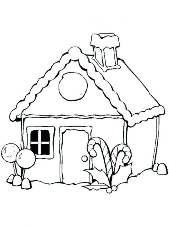 Free Gingerbread Coloring Pages Gingerbread House Coloring Pages To ...