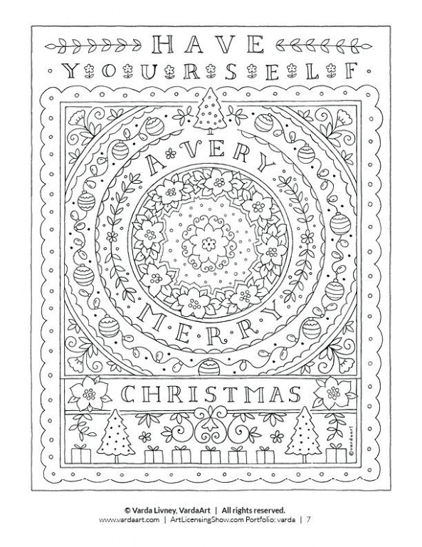 Free Holiday Coloring Pages Printable Free Coloring Pages For Adults ...