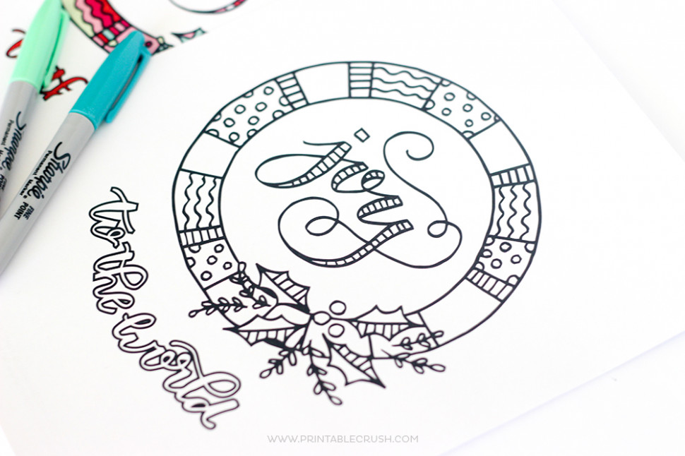 FREE Joy to the World Christmas Coloring Page – Printable Crush – Christmas Joy Coloring Pages