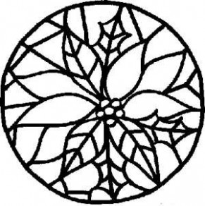 Free Kids Christmas Coloring Pages: Stained Glass Poinsettia ..
