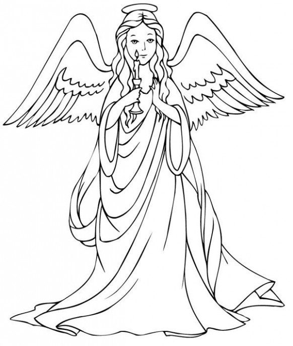 Free Printable Angel Coloring Pages For Kids | angels to color ..