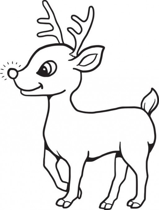 FREE Printable Baby Reindeer Christmas Coloring Page for Kids | Room ..