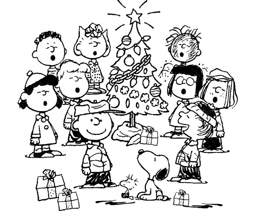 √ Free Printable Charlie Brown Christmas Coloring Pages Kids or ..