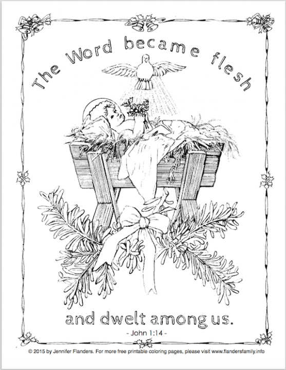 Free printable Christ-centered Christmas coloring pages | Crafts ...
