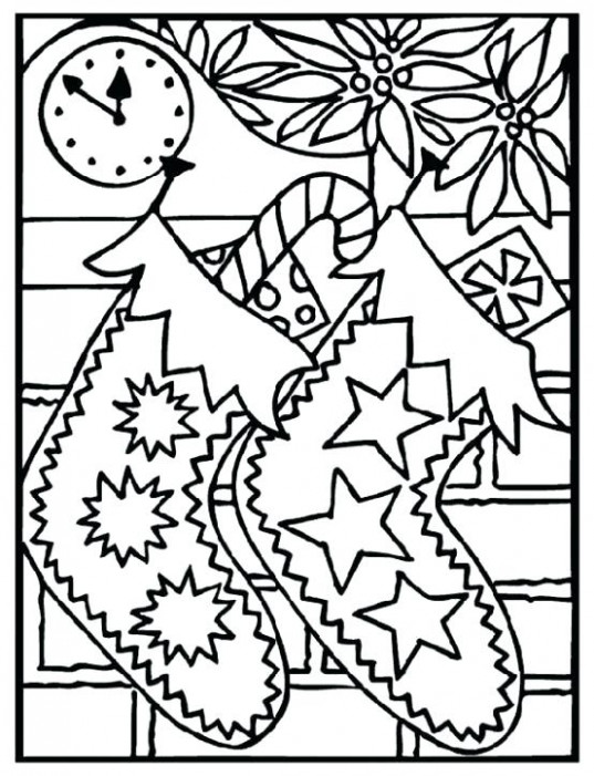 Free Printable Christmas Color Pages Coloring Pages For Adults ...