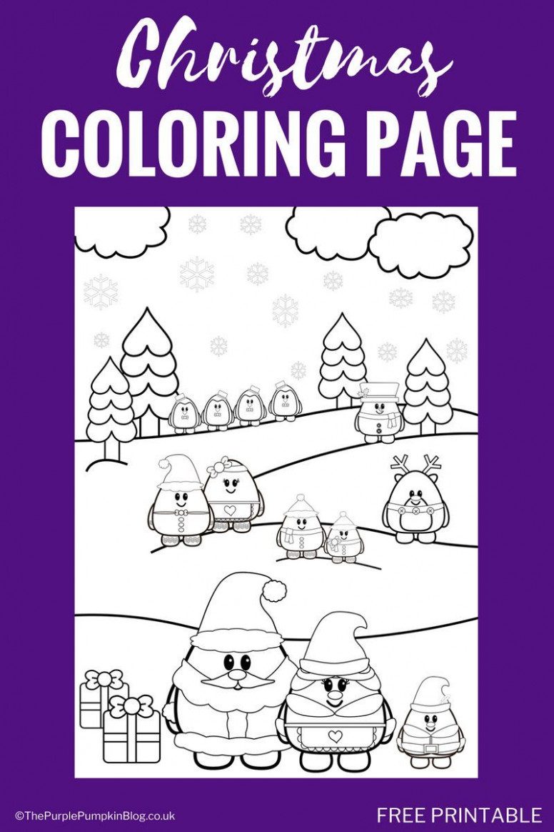 Free Printable Christmas Coloring Page! – Free Christmas Colouring Pages Uk