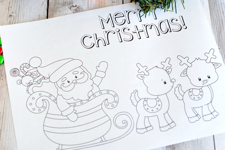 Free Printable Christmas Coloring Pages – Crazy Little Projects – Merry Christmas Coloring Pages Print
