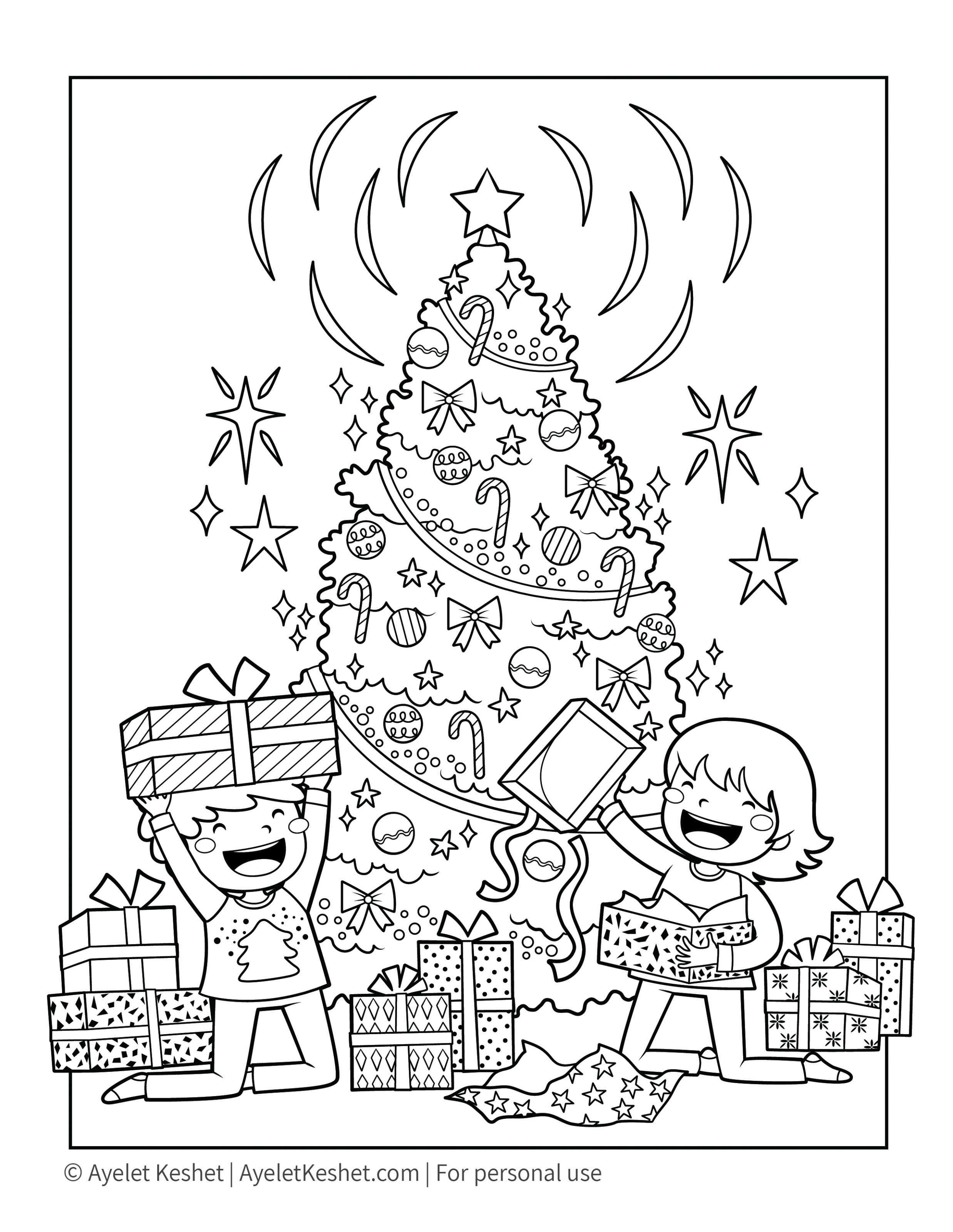 Free Printable Christmas Coloring Pages for kids – Ayelet Keshet – Christmas Coloring Downloads