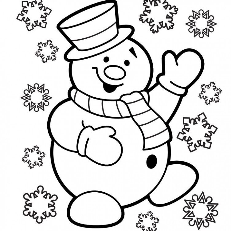 Free, Printable Christmas Coloring Pages for Kids - Christmas Coloring Pages Black And White