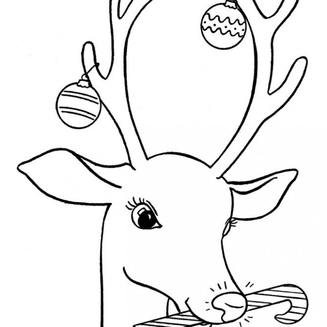 Free, Printable Christmas Coloring Pages for Kids – Christmas Deer Coloring Pages