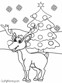 Free Printable Christmas Coloring Pages for Kids – Crafty Morning – Christmas Coloring Sheets Reindeer