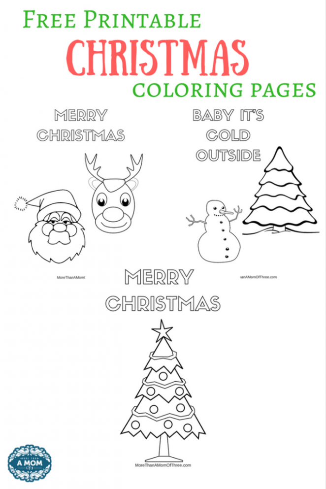 Free Printable Christmas Coloring Pages For Kids – More Than A Mom ..